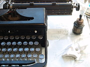 Typewriter Photos - Old Typewriter by Robin Maria  Pedrero