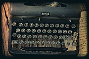 Old Typewriter With Letter Print by Garry Gay