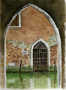 Original Watercolor Paintings - Old Venetian Doorway by Sheryl Heatherly Hawkins