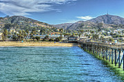 David  Zanzinger - Old Ventura City from the Pier