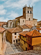 Spain Digital Art Posters - Old Village Church Poster by Dale Jackson
