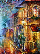 Old Town Painting Prints - Old Vitebsk part 2 - right Print by Leonid Afremov