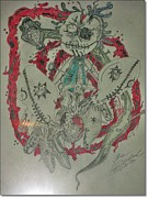 Voodoo Drawings Prints - Old Voodoo New Orleans Print by J Rowland