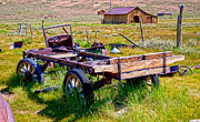 Old Wagon Photos - Old Wagon by Chris Brannen