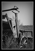 Old Wagons Framed Prints - Old Wagon Framed Print by Ernie Echols