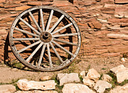 Old Wagon Prints - Old Wagon Wheel 20 Print by Douglas Barnett
