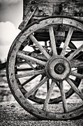 Weathered Prints - Old wagon wheels Print by Jane Rix