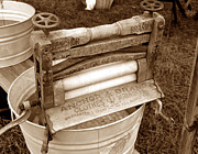 Vintage Clothes Photos - Old washer by David Lee Thompson