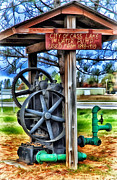 Logging Camp Prints - Old Water Pump 1898-1910 Print by Todd and candice Dailey