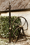 Fountain Photograph Posters - Old Water Pump Poster by Olivier Le Queinec