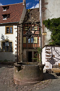 Riquewihr Prints - Old Water Well Print by Sally Weigand