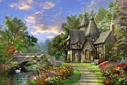 Gothic Prints - Old Waterway Cottage Print by Dominic Davison