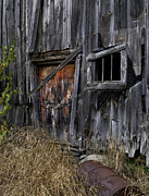 Old Rustic Barn And Barrel Photo Framed Prints - Old Weathered and Abandoned Framed Print by Thomas Schoeller