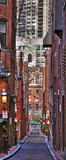 Gas Lamps Prints - Old West Church Vertical Panoramic Print by Joann Vitali