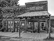 Old Wood Cabin Posters - Old West General Store - Virginia City Ghost Town Poster by Daniel Hagerman