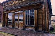 Bannack Montana Prints - OLD WEST SALOON during a RAIN STORM Print by Daniel Hagerman