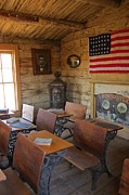 Old Cabins Prints - Old West School House Print by John Malone