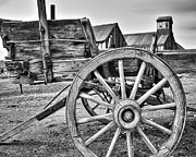 Old Wagon Prints - Old West Wagon Print by James Eddy