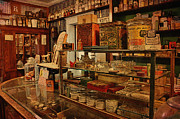 Old Western General Store Counter Print by Janice Rae Pariza