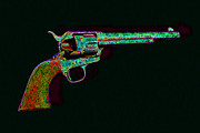 Bullet Prints - Old Western Pistol - 20130121 - v1 Print by Wingsdomain Art and Photography