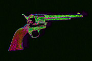 Billy The Kid Prints - Old Western Pistol - 20130121 - v2 Print by Wingsdomain Art and Photography