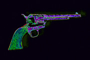 Murder Prints - Old Western Pistol - 20130121 - v3 Print by Wingsdomain Art and Photography