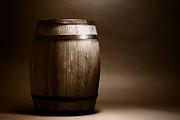 Old Whisky Barrel Print by Olivier Le Queinec