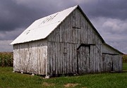 Old Barn Mixed Media - Old White Barn by Steven Overton