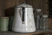 Lynn Palmer - Old White Enamel Coffee Pot