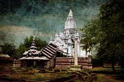 Burma Prints - Old Whitewashed Lemyethna temple Print by RicardMN Photography