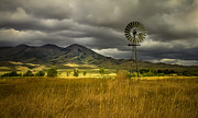 Old West Prints - Old Windmill Print by Robert Bales