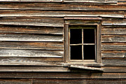 Clapboard House Photos - Old Window and Clapboard by Olivier Le Queinec