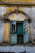Mombasa Framed Prints - Old Window Framed Print by Barry Koenecke