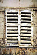 Shutters Posters - Old window Poster by Elena Elisseeva