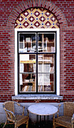 Old Window Posters - Old Window with Books Poster by George Siedler