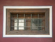 White Frame House Originals - Old window with grid by Deyan Georgiev