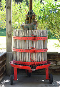 Wine Making Digital Art Prints - Old Wine Press Print by Barbara Snyder