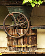 Wine-press Photos - Old Wine Press in the Rhine River Valley by Greg Matchick
