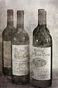 Red Wine Bottle Prints - Old Wines Print by Georgia Fowler