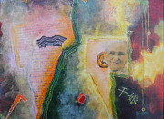 Landscape-like Art Paintings - Old Women Series  diptych B  bottom by Elizabeth Falconer