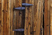 Door Hinges Posters - Old Wood Barn Poster by Garry Gay