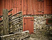 Old Barns Posters - Old Wood Poster by Marilyn Hunt