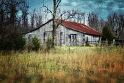 Barn Digital Art Metal Prints - Old Wooden Barn Metal Print by Betty LaRue