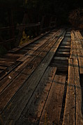 Old Roadway Prints - Old Wooden Bridge Print by Vonda Barnett