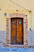 Old House Photographs Posters - Old Wooden Door - Mexico Poster by David Perry Lawrence