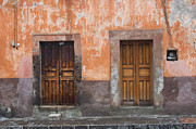 Door Photos - Old wooden doors by Oscar Gutierrez