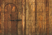 Warm Light Posters - Old Wooden Gate Poster by Kiril Stanchev
