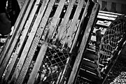 Lobster Traps Photos - Old Wooden Lobster Traps by Colleen Kammerer