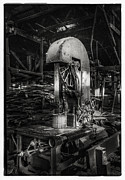 Gear Metal Prints - Old Wooden Sawmill Metal Print by Setsiri Silapasuwanchai