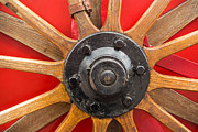 Spoked Wheel Prints - Old wooden spoke wheel Print by Matthias Hauser